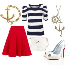 Nautical, created by haileyb19 on Polyvore