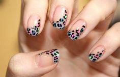 Diseños de uñas fáciles de hacer, Diseños fáciles animal print.   #diseñouñas #3dnailart #uñassencillas