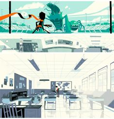 The Art of Kevin Dart and Stéphane Coëdel for the cartoon Randy Cunningham: 9th grade Ninja for Disney XD channel.