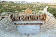 View from the cheap seats in the ampitheatre in Jerash, Jordan