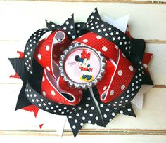 Check out this item in my Etsy shop https://www.etsy.com/listing/449932210/minnie-mouse-bow-minnie-mouse-hair-clip