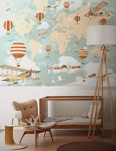 Mapa com balões