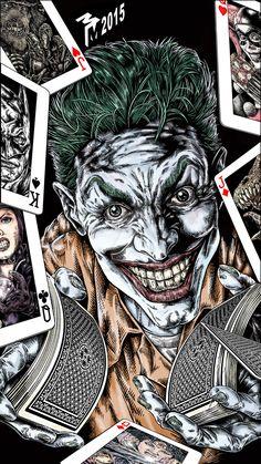 The Joker - Mark Muttley Im Batman, Batman Art, Der Joker, Comic Art, Comic Books, Joker Pics, Joker Card, Batman Universe, Dc Universe