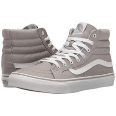aa02b25651 Vans SK8-Hi Slim (Drizzle True White) Skate Shoes ( 60) ❤ liked on Polyvore  featuring shoes