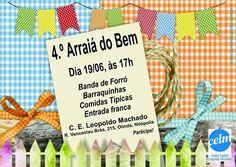 CELM Convida para o seu 4º Arraiá do Bem - Nilópolis - RJ - http://www.agendaespiritabrasil.com.br/2016/06/19/celm-convida-para-o-seu-4o-arraia-do-bem-nilopolis-rj/