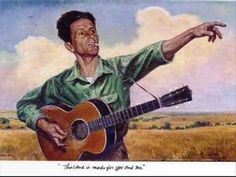 """Woody Guthrie Recorded """"Talking Fishing Blues"""" in 1944. This recording is from the 1962 Philadelphia Folk Festival. Elliott recorded it again in 1968."""