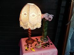 Retro, Pink, Table Lamp, Home Decor, Themed Birthday Parties, Sparklers, Easter Cake, Paper Lanterns, Champagne Glasses