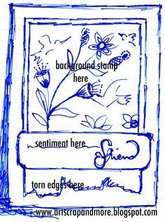 art scrap & more: a sketch a Card - background stamp