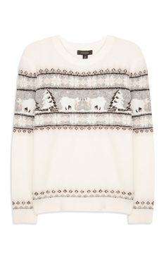 Primark - Product. Jumpers & Cardigans. Polar Bear Fairisle Jumper $14