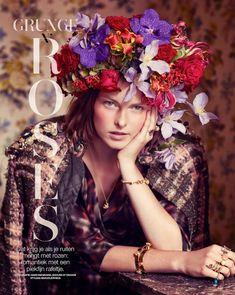 Grunge N' Roses: Vera Luijendijk By Hans Van Brakel For Marie Claire Netherlands November 2013