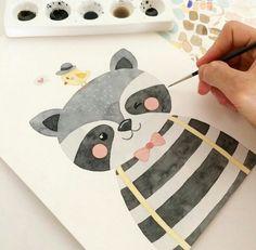 كياتةة♥️ Abstract Illustration, Fish Illustration, Floral Illustrations, Watercolor Animals, Watercolor Paintings, Watercolour, Animal Drawings, Cute Drawings, Illustration Mignonne