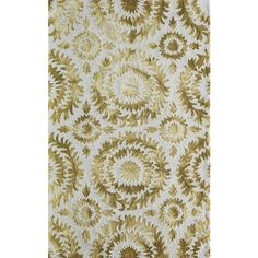 Momeni Betsy Yellow Hand-hooked Area Rug 2'-0 X 3'-0 By ($89) ❤ liked on Polyvore featuring home, rugs, momeni rugs, momeni area rugs, patterned rugs, yellow rug and momeni