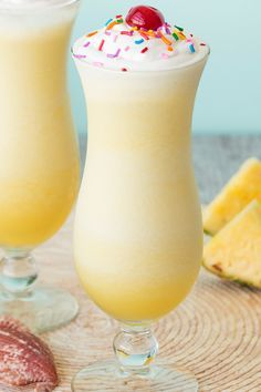 Low-calorie summer cocktail! This tastes like a piña colada's birthday party… just 166 calories! Get the recipe from Hungry Girl!