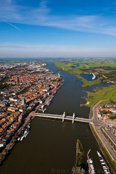 An old HANSA trading city on the Ijssel River. Kampen in the Netherlands Netherlands Country, Holland Netherlands, Amsterdam, Travel Memories, Countries Of The World, Aerial View, Where To Go, Places To Visit, Europe