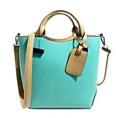 Stylish Women's Tote Bag With Color Block and Pendant Design Color: AZURE, PURPLE, PINK Category: Bags > Women's Handbags > Tote Bags   Handbag Type: Totes  Style: Casual  Gender: For Women  Pattern Type: Patchwork  Handbag Size: Small(20-30cm)  Closure Type: Zipper  Interior: Interior Zipper Pocket  Occasion: Versatile  Main Material: PU  Hardness: Hard  #navybluehandbagsleather #navybluehandbags #leatherhandbags #womenhandbags #bridgat.com