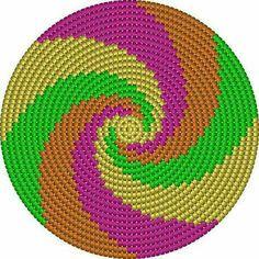Discover thousands of images about Wayuu Mochilla Bag Chart - Ganchillo Tapestry Crochet Patterns, Crochet Mandala Pattern, Crochet Chart, Crochet Stitches, Knit Crochet, Double Crochet, Crochet Handbags, Crochet Purses, Crochet Bags