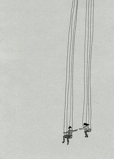 Art Inspiration: Cute illustration of a couple on a swing. https://s-media-cache-ak0.pinimg.com/originals/be/81/61/be8161e27fb10e5621337b8663ea15ac.jpg