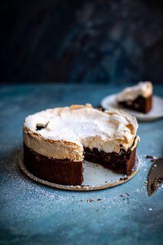 Meringue Snow Capped Chocolate Brownie Cake   Donal Skehan   EAT LIVE GO