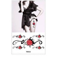 New Fashionable Mixed Gold $ Sliver Skull Head Flower HeartsTemporary Metallic Tattoo Sticker