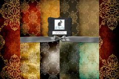 Check out Vintage Damask Background Patterns by Le Paper Cafe on Creative Market
