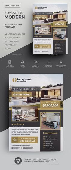 Flyer Template Real Estate V   Pinteres