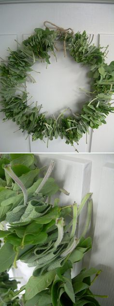 GARDEN CRAFTS :: Use sage from your garden to make a DIY herb wreath! Looks & smells fabulous!