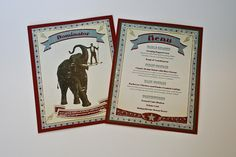 Vintage Circus Themed Event Menus by InspirationDC, via Flickr