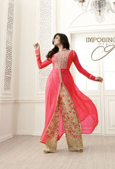 Georgette Pink Designer Salwar Kameez..@ fashionsbyindia.com #designs #indian #fashion #womens #style #cloths #fashion #stylish #casual #fashionsbyindia #punjabi #suits