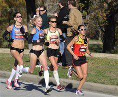 Desiree Davila, Amy Hastings, Shalane Flanagan and Kara Goucher Run Like A Girl, Just Run, Girls Be Like, Running Race, Running Workouts, Kara Goucher, Olympic Runners, Olympic Marathon, Running Pictures