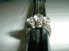 antique sterling silver engagement ring by qualityvintagejewels. check : www.qualityvintagejewelry.com .