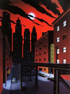 Gotham's red night sky for The New Batman Adventures by Michele Graybeal an - Batman Poster - Trending Batman Poster. - Gotham's red night sky for The New Batman Adventures by Michele Graybeal and David McBride Bruce Timm, Gotham City, Batman Painting, Batman Artwork, Batman Kunst, The New Batman, Batman Poster, Pokerface, Batman The Animated Series