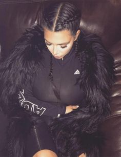 Kim Kardashian reveals the secret trick behind her signature braids
