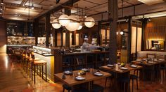 MOMOTARO SUSHI BAR - Google Search Chicago, Restaurant, Ceiling Lights, Architecture, Sushi, Furniture, Japanese, Google Search, Home Decor