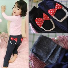 2015 Autumn Winter Children's Skinny Pants Velvet Girls Bow Leggings,High Quality pant straps,China legging suppliers Suppliers, Cheap pants bow from Kids Fashion Clothing - Worldwide Wholesale  on Aliexpress.com Fashion Kids, Winter Fashion, Girls Leggings, Leggings Are Not Pants, Winter Kids, Fall Winter, Cheap Pants, Girls Bows, Aliexpress