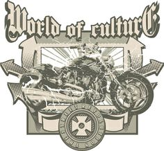motorcycle t-shirt designs for printing t-shirts & fashion products. Download vector t-shirt designs.