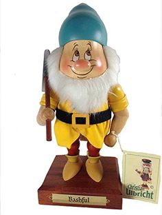 Retired Christian Ulbricht Bashful Limited Edition Nutcracker From Disneys 7 Dwarfs >>> See this great product.