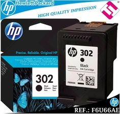 TINTA NEGRA 302 ORIGINAL IMPRESORAS HP CARTUCHO NEGRO HEWLETT PACKARD F6U66AE Tinta Hp, Hewlett Packard, Ebay, The Originals, Printers, Black People