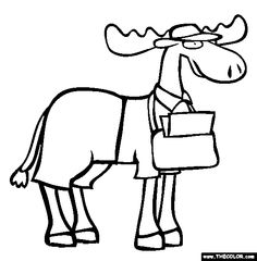 mailmoose coloring page free mailmoose online coloring male