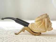 Vintage Meerschaum Pipe Hand Carved Sultan by CynthiasAttic
