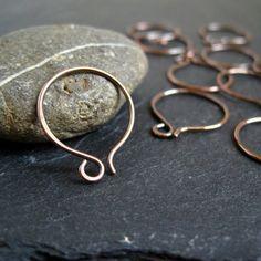 Copper Hoop Earwires #Wire #Jewelry #Tutorials