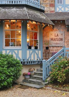La Maison - in the incredibly chic Deauville, Lower Normandy - a fantastic home shop with funky cushions and antique bed and table linen. Only open Friday to Sunday though!