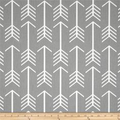Changing Pad Cover- Gray/White Aztec Arrows