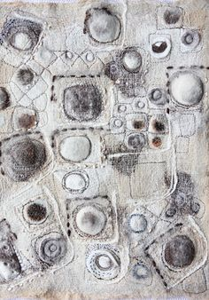 "stitchworks""Grey Day"" by Jackie Bowcutt Textile Fiber Art, Textile Artists, Textiles, Textile Manipulation, Beautiful Textures, Felt Art, Fabric Art, Art Techniques, Textures Patterns"