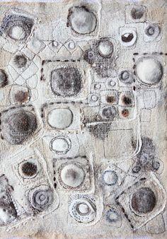 "stitchworks""Grey Day"" by Jackie Bowcutt Textile Fiber Art, Textile Artists, Textiles, Textile Manipulation, Nausicaa, Beautiful Textures, Felt Art, Fabric Art, Art Techniques"