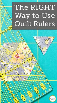Sewing room Quilting rulers come in all different sizes and shapes. Heather Thomas will teach you ho Quilting Rulers, Quilting Tips, Quilting Tutorials, Machine Quilting, Quilting Projects, Sewing Tutorials, Diy Quilting Templates, Triangle Quilt Tutorials, Quilt Binding