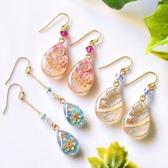 Diy Resin Earrings, Resin Jewelry, Jewelry Crafts, Jewelry Art, Kawaii Accessories, Handmade Accessories, Handmade Jewelry, Diy Resin Art, Diy Resin Crafts