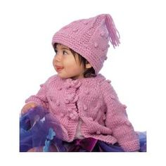 Babies' Cables and Bobbles Cardigan Knitting Pattern - FREE from Vogue Knitting
