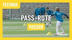 Fussballtraining: Die Pass-Rute - Passen - Technik