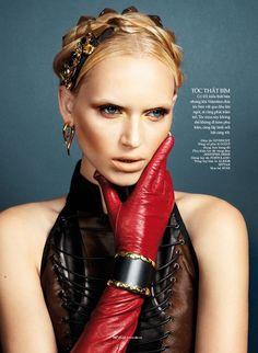 Valeria Dmitrienko Models Radiant Beauty for Elle Vietnam, Lensed by Stockton Johnson