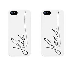 His And Hers Couples Matching Cell Phone Cases for iphone 4, iphone 5, iphone 5C, iphone 6, iphone 6 plus, Galaxy S3, Galaxy S4, Galaxy S5, HTC One M8, LG G3 love